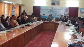 Description: Description: C:\Users\nader.rahman\Desktop\Inside Story 156\Acting Deputy Commissioner, Gopalganj delivering his speech as Chief Guest at the VC workshop.JPG