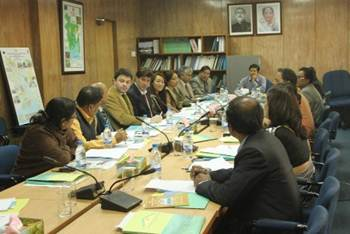 Description: The members of PSC meeting are discussing on VC project including the presence of Mr  Md  Abu Alam Shahid Khan Secretary  LGD MoLGRDC (2)